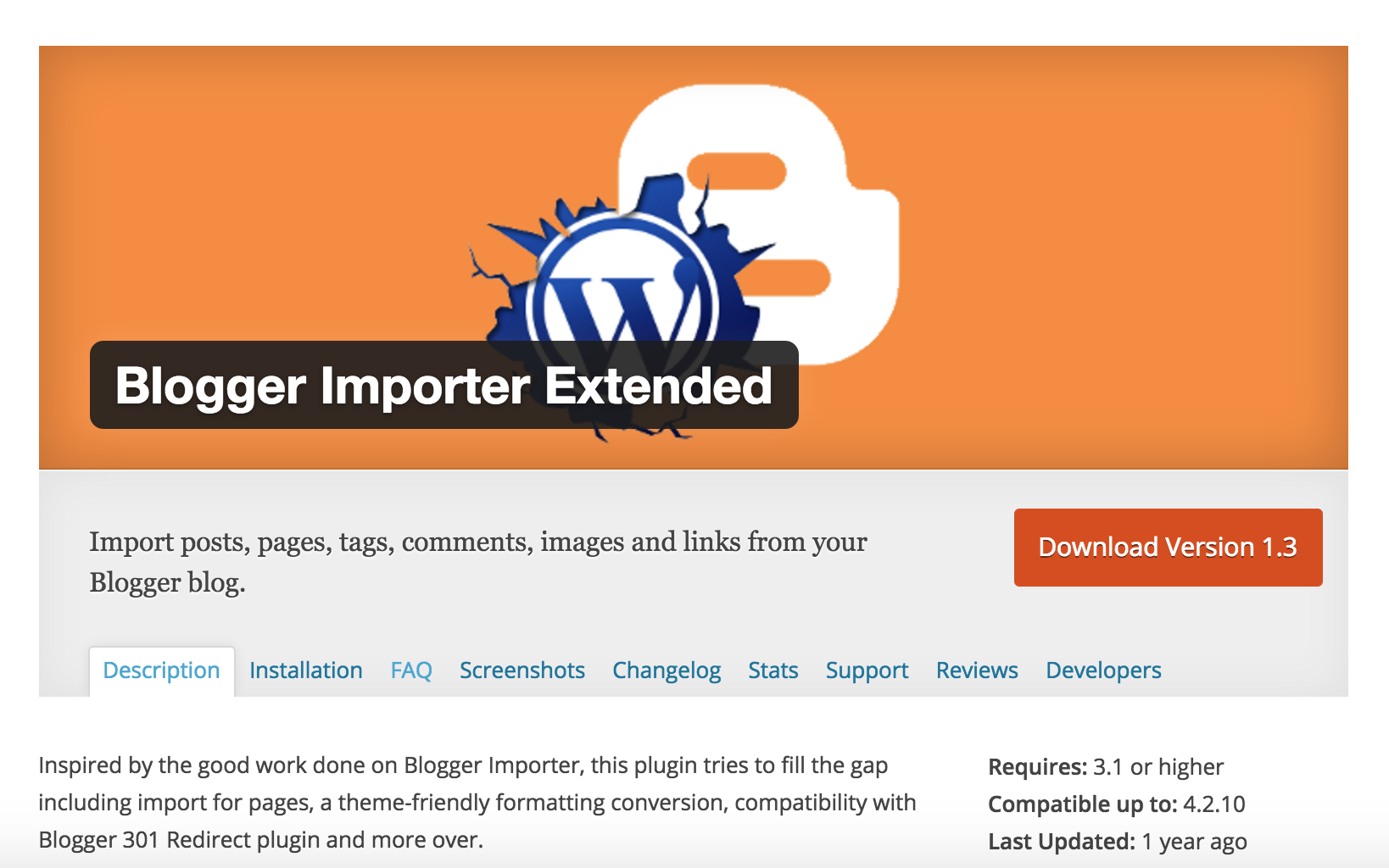 Blogger Importer Extended (BIE) – The importer has stopped unexpectedly
